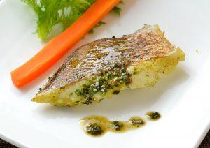 お魚レストラン 真鯛の一夜干し「バジルソース」